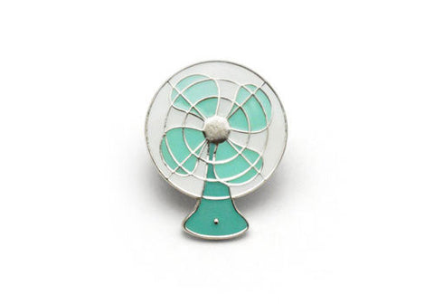 Lucky Horse Press Vintage Electric Fan Seafoam Enamel Pin | Room 2046 Toronto Canada