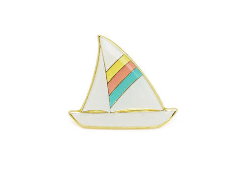 Lucky Horse Press Sailboat Enamel Pin | Room 2046 Toronto Canada
