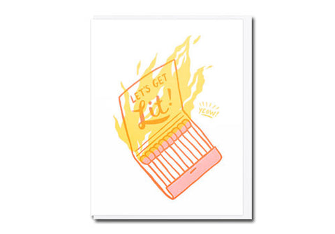 Lucky Horse Press Get Lit Matchbook Greeting Card | Room 2046 Toronto Canada