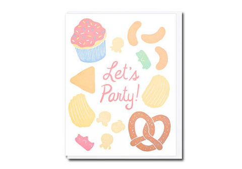 Lucky Horse Press Let's Party Junk Food Greeting Card | Room 2046 Toronto Canada