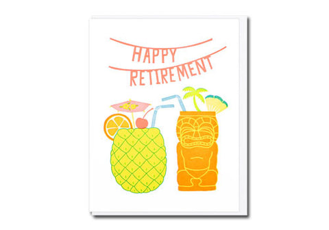 Lucky Horse Press Happy Retirement Tiki Greeting Card | Room 2046 Toronto Canada