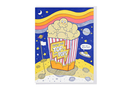 Lucky Horse Press Top Popcorn Father's Day Greeting Card | Room 2046 Toronto Canada
