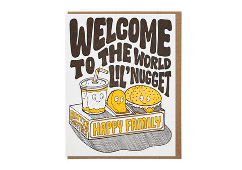 Lucky Horse Press Welcome Lil' Nugget Baby Greeting Card | Room 2046 Toronto Canada