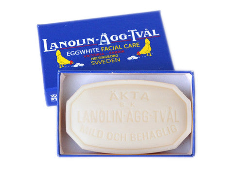 Victoria Lanolin-Agg-Tval Swedish Eggwhite 50g Facial Soap