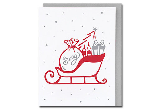 Loudhouse Creative Holiday Swag Letterpress Holiday Card | Room 2046 Toronto Canada