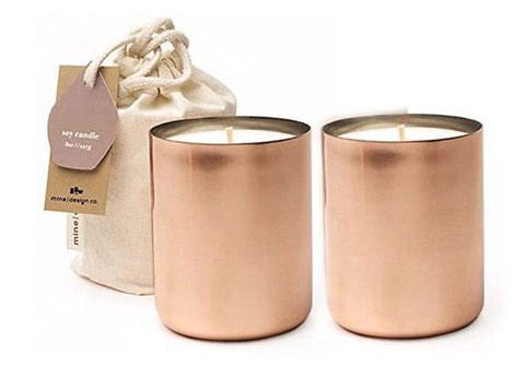 Mine Design Maelle Copper Soy Candle Gift Bundle