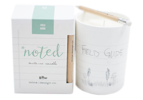Mine Design Noted 7 oz Soy Candle - Field Guide | Room 2046 Toronto Canada