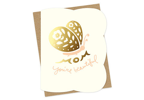 Night Owl Paper Goods Beautiful Butterfly Mother's Day Card | Room 2046 Toronto Canada