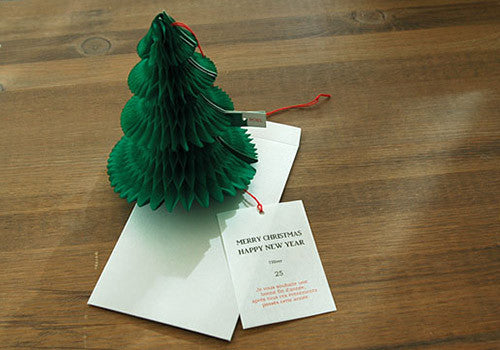O-Check Xmas Tree Pop Up Decorative Holiday Card | Room 2046 Toronto Canada