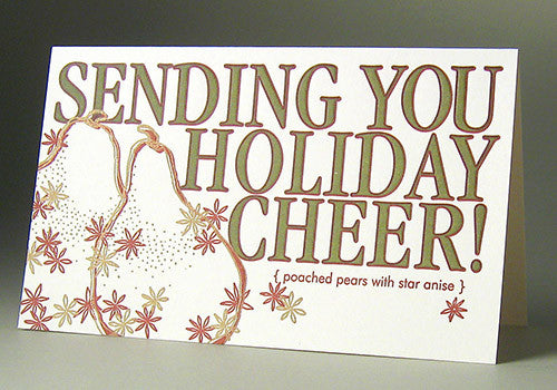 Oblation Papers & Press Holiday Cheer Single Letterpress Card | Room 2046 Toronto Canada