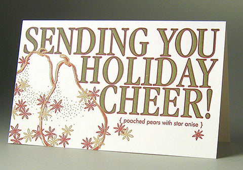Oblation Papers & Press Holiday Cheer Letterpress Boxed Cards