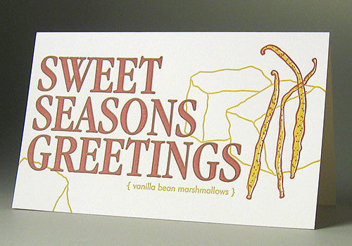 Oblation Papers & Press Sweet Seasons Greetings Letterpress Single Card | Room 2046 Toronto Canada