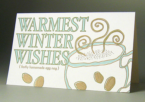 Oblation Papers & Press Winter Wishes Letterpress Boxed Cards