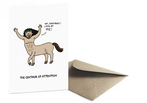 Ohh Deer Centaur of Attention Greeting Card | Room 2046 Toronto