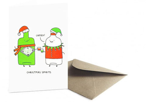 Ohh Deer Christmas Spirits Pun Holiday Card | Room 2046 Toronto Canada