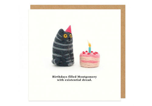 Birthday Card Food Puns ~ Shop ohh deer existential dread square greeting card in room 2046