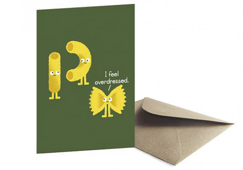 Ohh Deer Overdressed Pasta Party Gretting Card | Room 2046 Toronto Canada