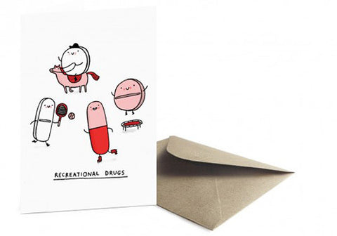 Ohh Deer Recreational Drugs Greeting Card | Room 2046 Toronto