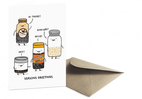 Ohh Deer Seasons Greetings Pun Holiday Card | Room 2046 Toronto Canada
