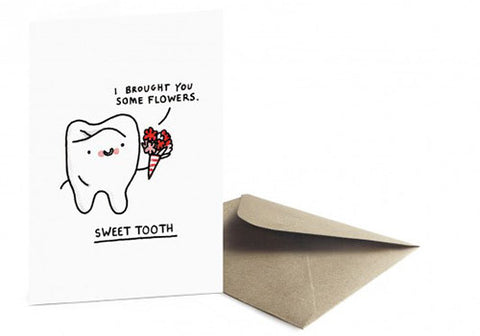 Ohh Deer Sweet Tooth Greeting Card | Room 2046 Toronto