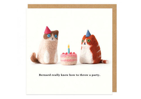 Ohh Deer Throw A Party Square Greeting Card | Room 2046 Toronto Canada