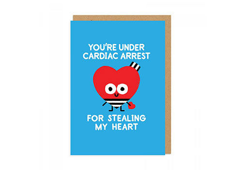Ohh Deer Cardiac Arrest Greeting Card | Room 2046 Toronto Canada