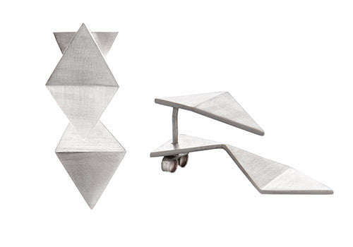 Pico Design Triangle Reverse Silver Earrings