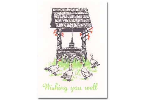 Papillon Press Wishing Well Letterpress Card