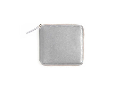 Poketo Hayden Leather Wallet - Grey | Room 2046 Toronto Canada