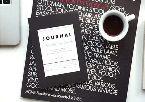 Seeso Graphics Perpetual Vintage Journal - Black | Room 2046 Toronto Canada