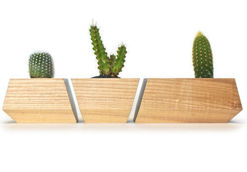 Boxcar Planter Set Ash and Black
