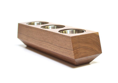 Boxcar Triple Planter Walnut Natural