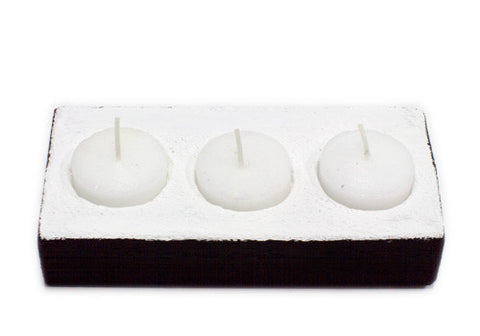 Room 2046 Reef Concrete Tealight Holder - Black & White | Room 2046 Toronto Canada