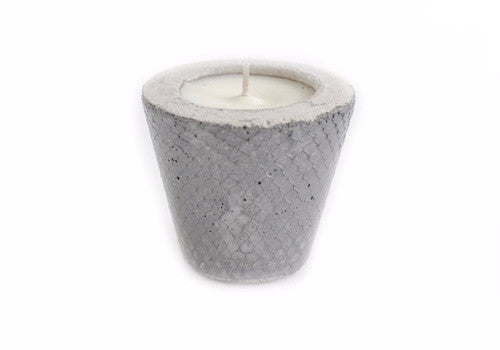 Room 2046 Pico Concrete Planter - Textured Silver Metallic | Room 2046 Toronto Canada