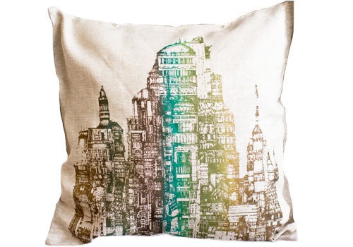 Room 2046 Flo City Metallic Linen Ecru Cushion | Room 2046 Toronto Canada