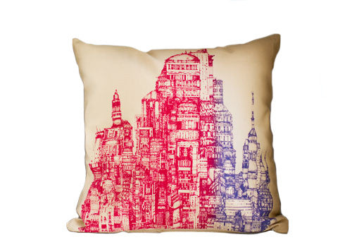Room 2046 Flo City Square Cushion Pink Blend | Room 2046 Toronto Canada