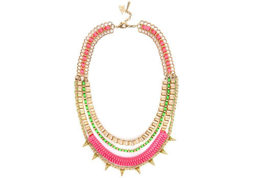 John & Pearl Carita Necklace - Acid Green Passion Pink | Room 2046 Toronto Canada