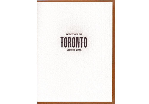 Sapling Press Someone In Toronto Misses You Card | Room 2046 Toronto Canada