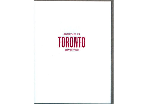 Sapling Press Someone in Toronto Loves You Card | Room 2046 Toronto Canada