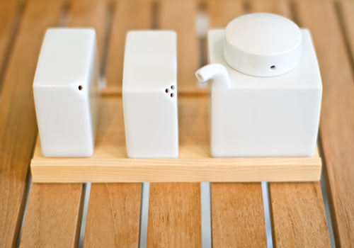 Hakusan Porcelain Condiment Set
