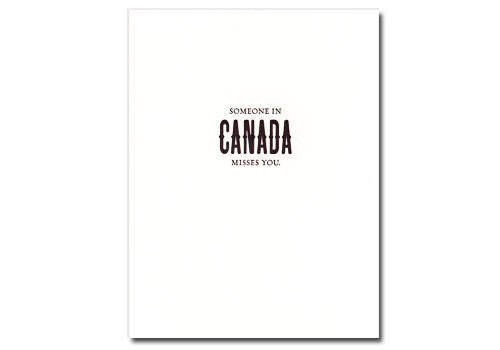 Sapling Press Somone In Canada Misses You Card | Room 2046 Toronto Canada