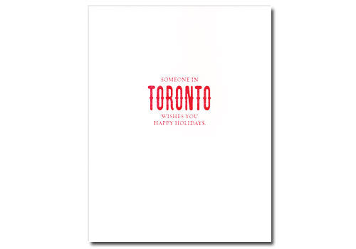 Sapling Press Someone In Toronto Holiday Card | Room 2046 Toronto Canada