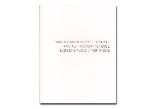 Sapling Press The Night Before Christmas Card | Room 2046 Toronto Canada
