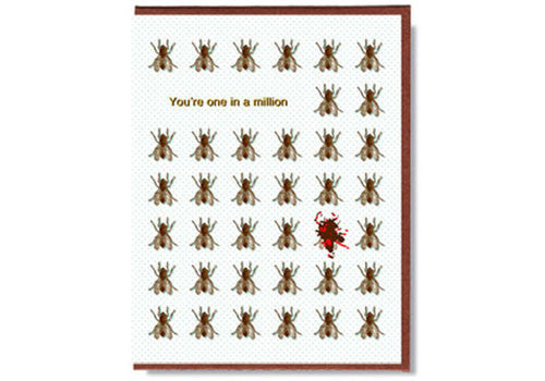 Smitten Kitten Tomfoolery Card - You're One in a Million