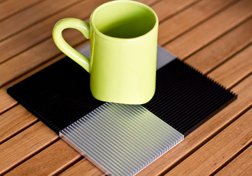 Souda Fin Black Coasters