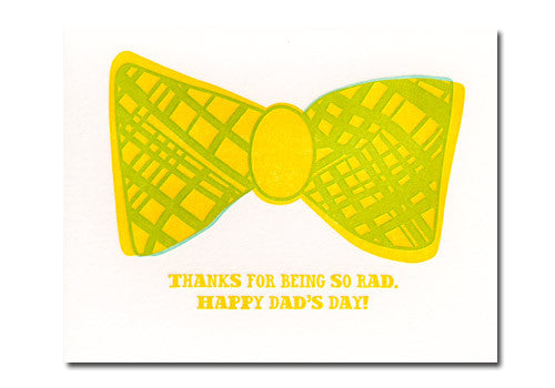 Sugarcube Press Rad Bow Tie Father's Day Card | Room 2046 Toronto Canada