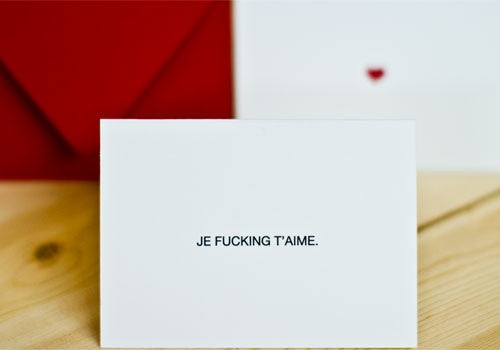 Terrapin Stationers Je Fucking T'Aime Mini Cards