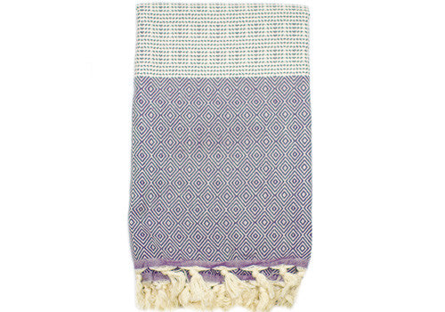 Fine Loom Elmas 450g Cotton Turkish Towel - Purple | Room 2046 Toronto Canada
