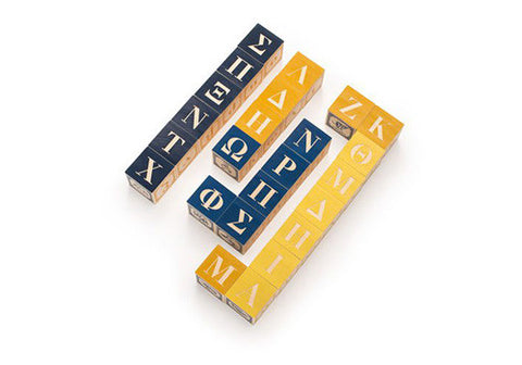 Uncle Goose Greek Alphabet Blocks | Room 2046 Toronto Canada