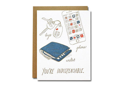 Wild Ink Press Indispensable Letterpress Card | Room 2046 Toronto Canada